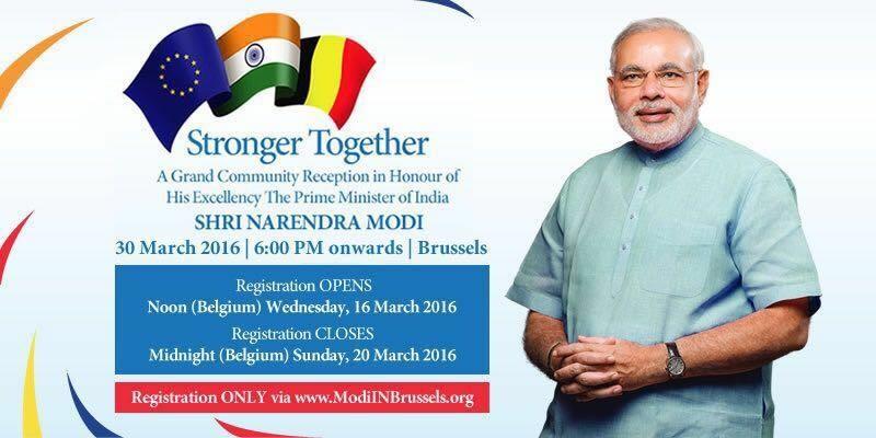 A Grand Community Reception (Modi in Brussels)
