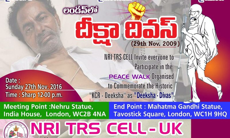 Deeksha Divas in London by NRI – TRS Cell (UK)