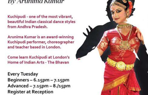 KUCHIPUDI DANCE CLASSES AT THE BHAVAN BY ARUNIMA KUMAR