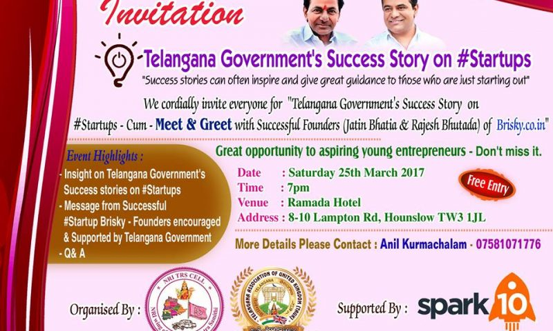 Telangana Govt Success Story on Startups (Meet & Greet)