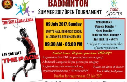 TARA  Badminton Summer Open Tournament 2017