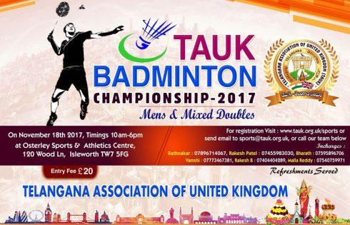 TAUK – Badminton Championship 2017