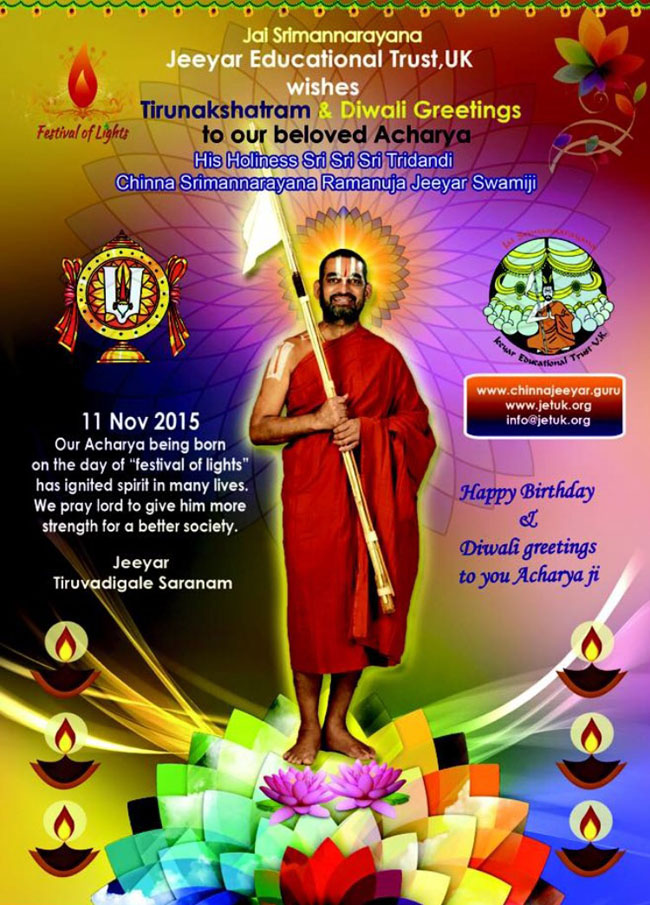 Happy Birthday & Diwali Greetings to Acharya Ji