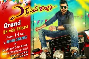 Express Raja Movie UK Schedule