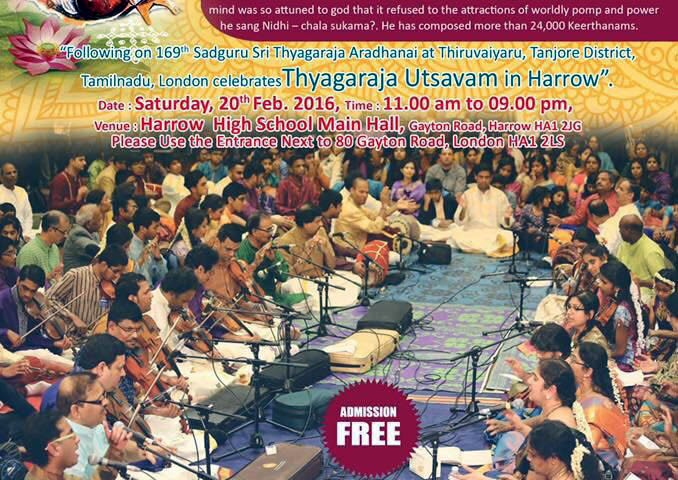 Thyagaraja Utsavam in Harrow (Entry Free)