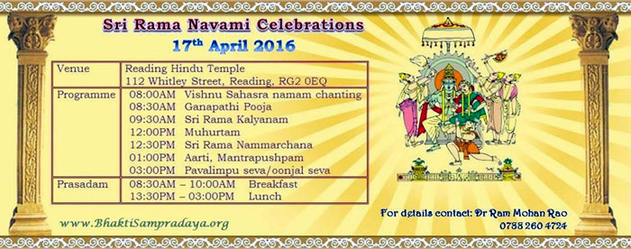 Sri Rama Navami Celebrations, 17th April, 2016