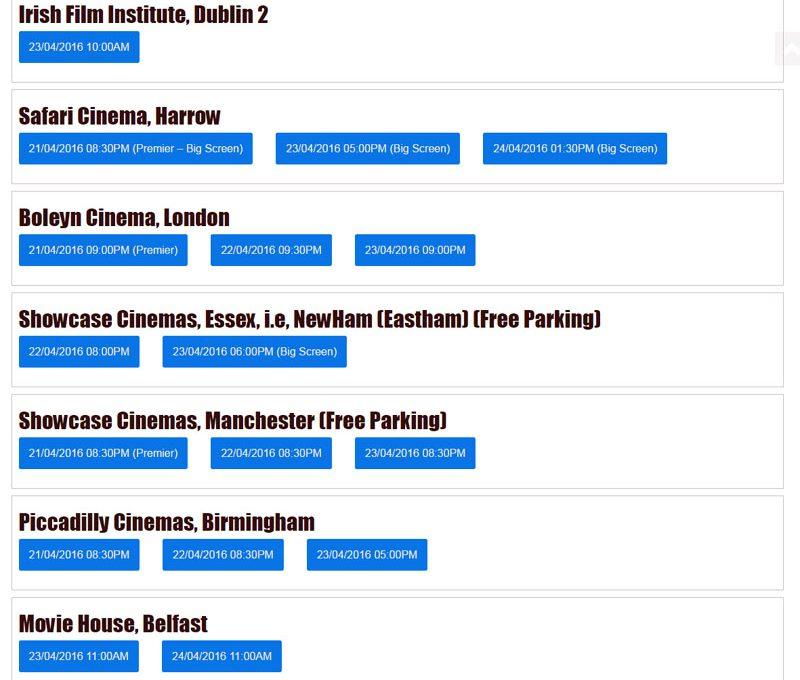 sarainodu movie schedule uk