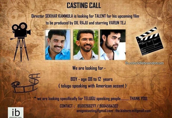 Casting Call for Telugu Speaking People & Boy