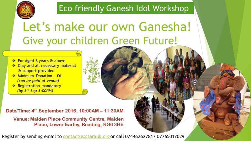 Eco Friendly Gandesh Idol Workshop