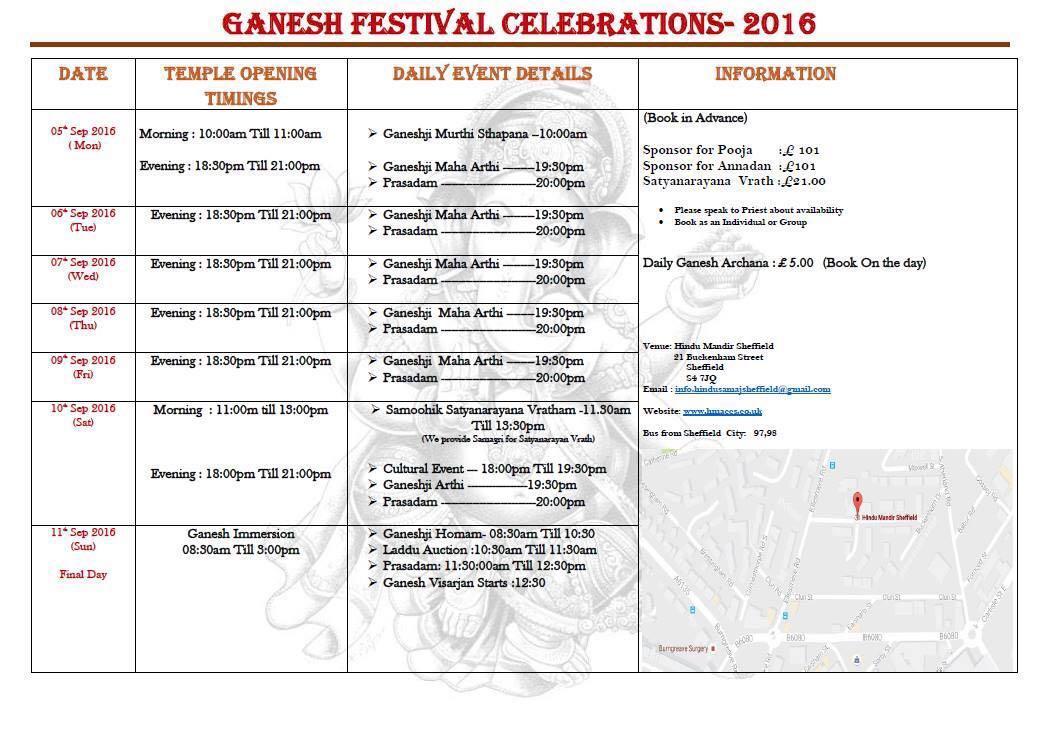Ganesh Festival Celebrations 2016