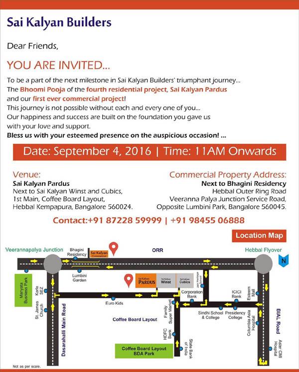 Sai Kalyan Builders, Invitation