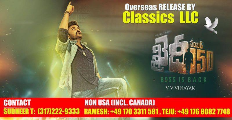 Khaidi Number 150 Overseas release