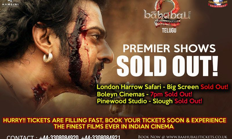 Hurry – Bahubali 2 Movie Premiere Show Tickets Sold Out
