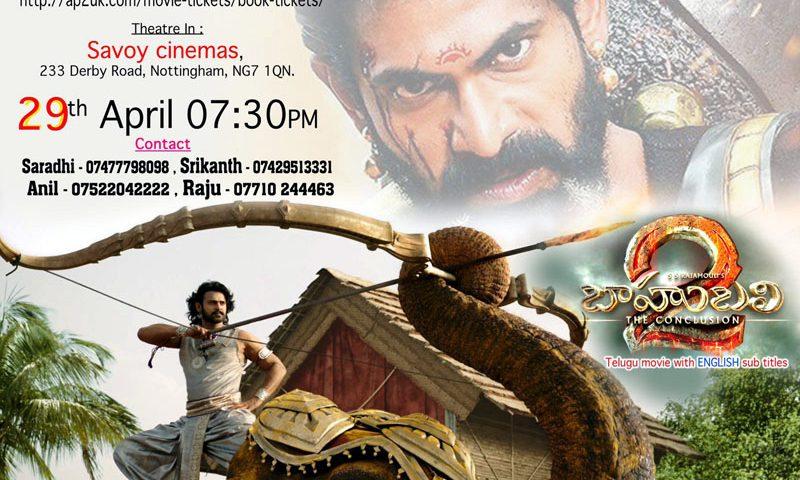 Bahubali 2 Telugu Movie in Nottingham, Savoy Cinemas