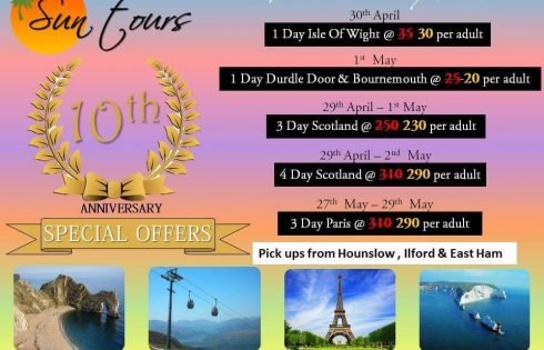 Sun tours 10th Anniversary Special offers