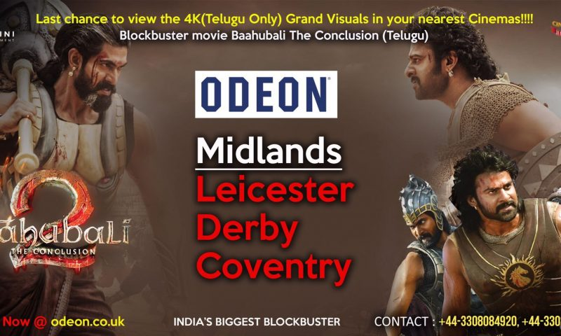 Bahubali 2 in Midlands, Leicester Derby Coventry