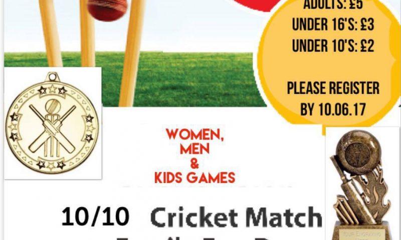 10-10 Cricket Match & Family Fun Day