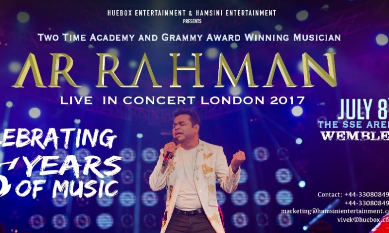 AR RAHMAN LIVE IN CONCERT IN LONDON (JULY 8TH, 2017)