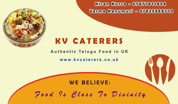 KV CATERERS – Authentic Telugu Food in UK