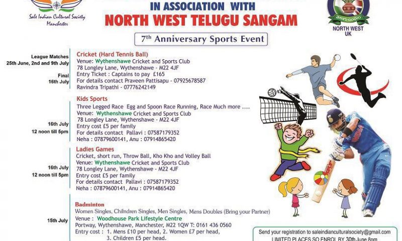 Sports Events By Sale Indian Cultural Society