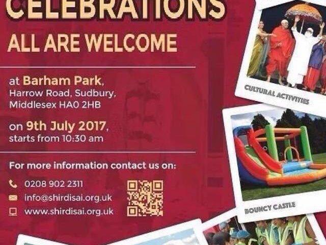 Gurupournima celebrations on 9th july 2017 at Barham Park