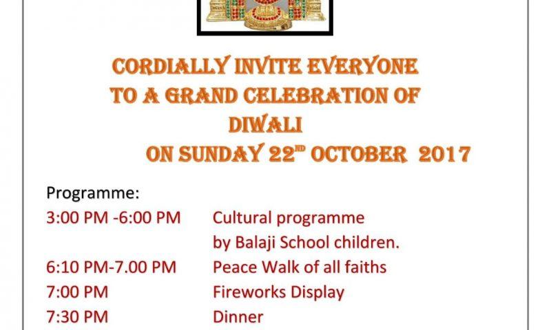 Diwali Celebrations on 22nd October 17