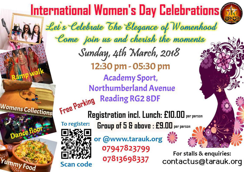TARA – International Women's Day Celebrations 2018   Ap2uk.com